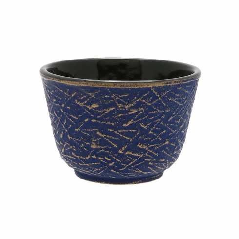 Gold & Europa Blu Pine <br>Needle Cast<br> Iron Tea Cup by Iwachu