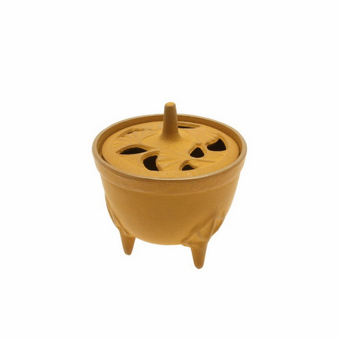 Gold & Yellow Ginkgo Cast iron Incense Burner