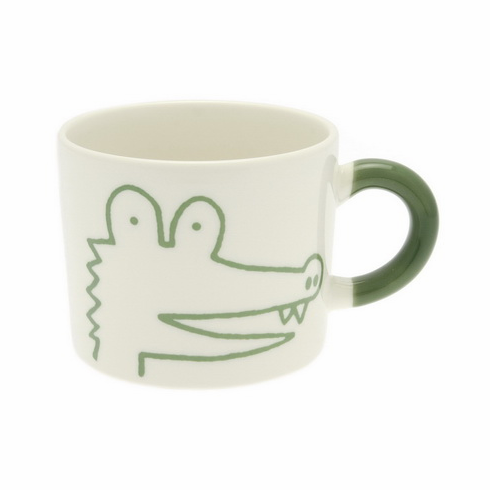 Green Alligator Mug, 12 oz.