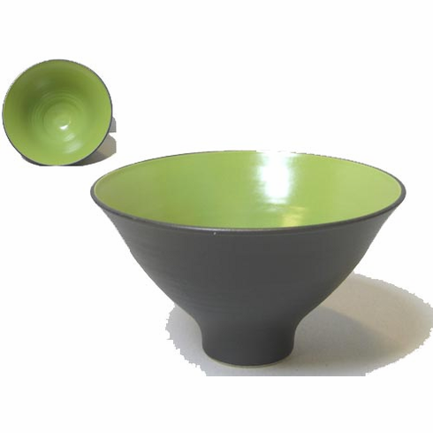 Green & Black Funnel Bowl