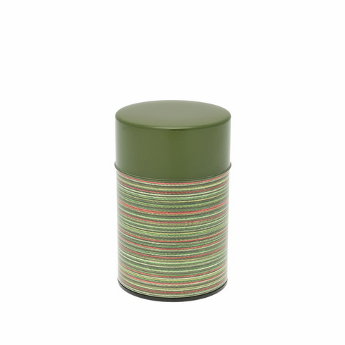 Green Color Rings Tea Canister, 100 Grams