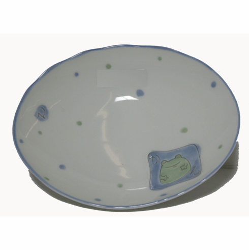 Green Frog Plate, 7-5/8  x  6-1/4""