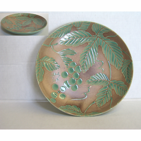 Green Grape Vine Dinner Plate 9-1/4""