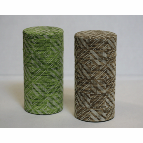 Green or Brown Geometric  Pattern Tea Canister, 200 Grams