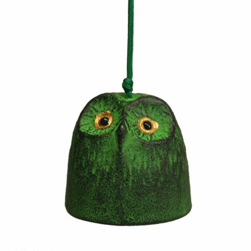 Green Owl Cast Iron Wind Chime