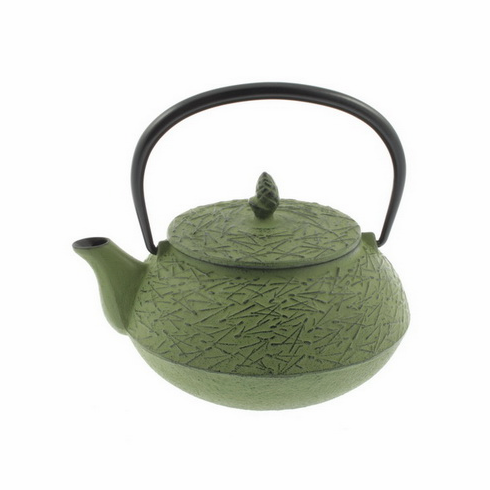 Green Pine Needle Cast Iron Teapot  by Iwachu 20 oz.