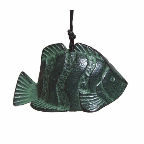 Green Tropical Fish Cast Iron Wind Chime