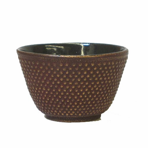 Iwachu Cast Iron Cup Golden and Reddish Brown Hobnail, 4 oz.