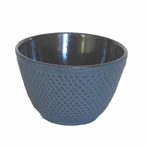 Iwachu Cast Iron Tea Cup Blue Hobnail, 4 oz.