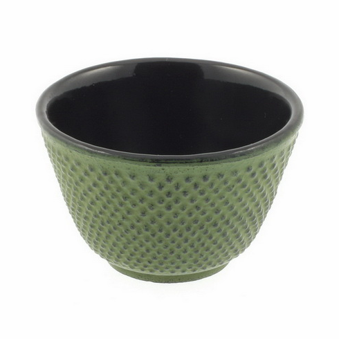 Iwachu Cast Iron Tea Cup Green Hobnail, 4 oz.