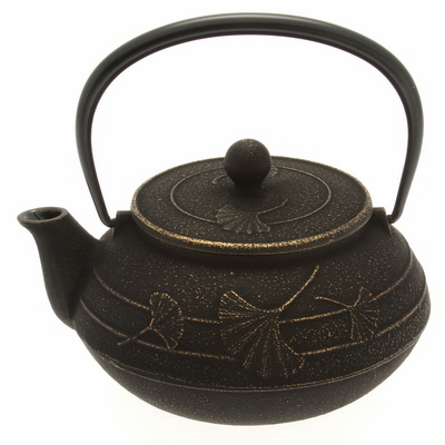 Iwachu Cast Iron Teapot Gold/Black <br>Ginkgo 20 oz.