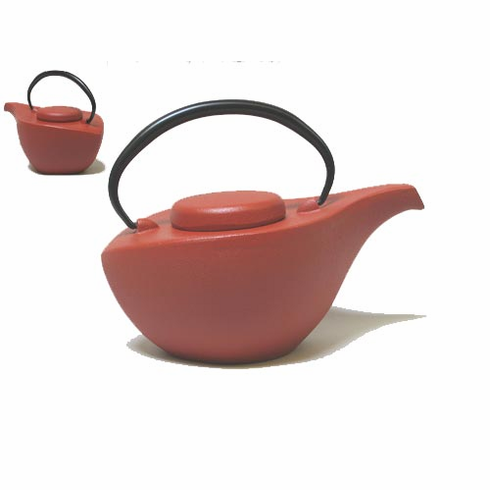 Iwachu Cast Iron Teapot Mat Red Finish 24 oz.