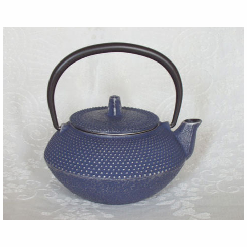 """Iwachu Silver Denim Hobnail Cast Iron Teapot 12 oz. <font color=red><i>""""Out of Stock""""</i></font>"""