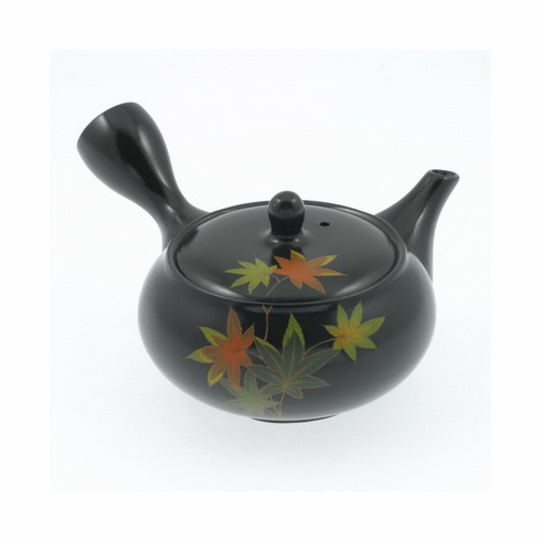 Maple Leaves Tokonama Kyusu Teapot, 8 oz.