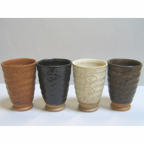 """Natural Colors Four Ceramic Cups, 5 oz.<font color=red><i>""""Out of Stock""""</i></font>"""