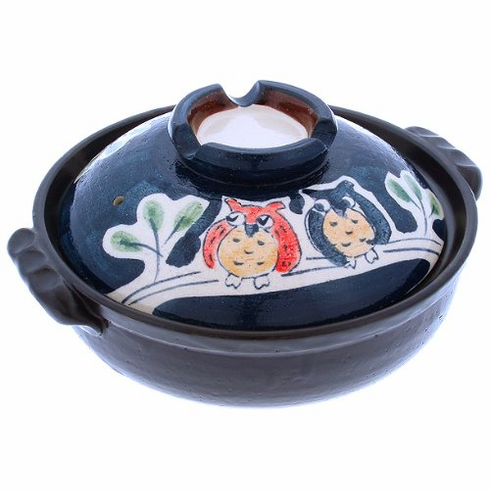 """Owl Family Donabe Pots 8-1/2"""" or<br> 9-3/4"""""""