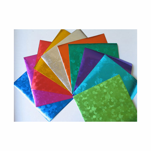 """Pack of 5-7/8"""" Sq. Embossed Foil Origami Paper 10 Sheets"""