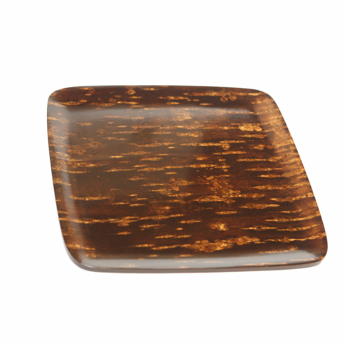 Polished Natural Cherry Bark Tray Serving, 12-5/8""