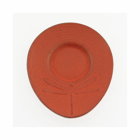 Red Dragonfly Cast Iron Coaster