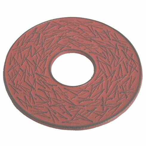 """Red Pine Needle Cast Iron Trivet, Made by Iwachu 6"""""""