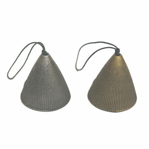 Silver or Gold Cone Cast Iron <br> Windchimes