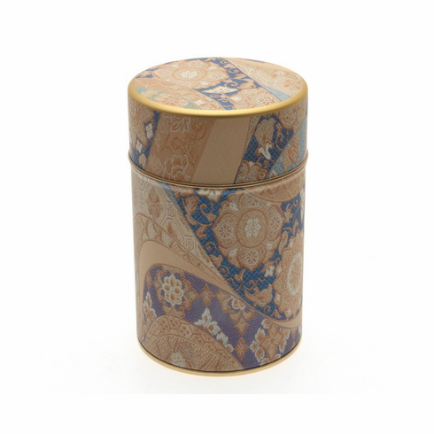 Tea Canister Blue Kimono Canister,  <br>Holds 150 Grams