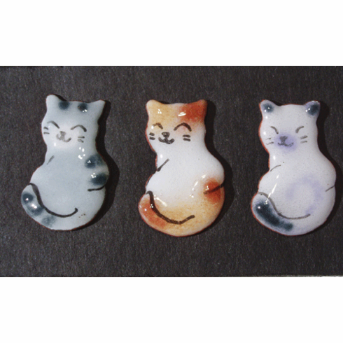 Three Kitty Pins Set
