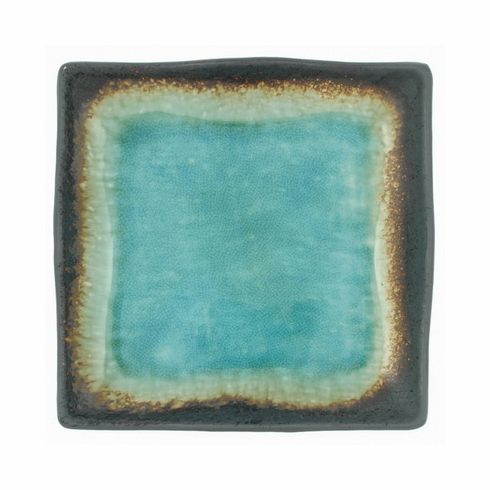 "Turquoise Sky Glazed Square Dish <br>7"" Sq.  or 9"" Sq."