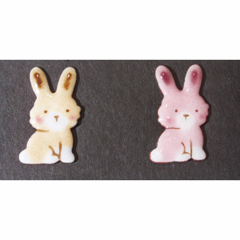 Two Bunny Pins Set