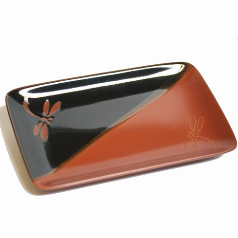 Warm Colors Dragonfly Plate