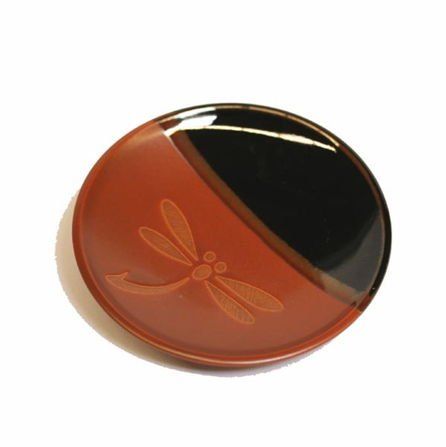 Warm Colors Dragonfly Saucer