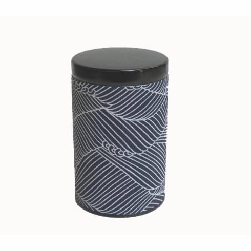 Waves Tea Canister, Holds 100 Grams