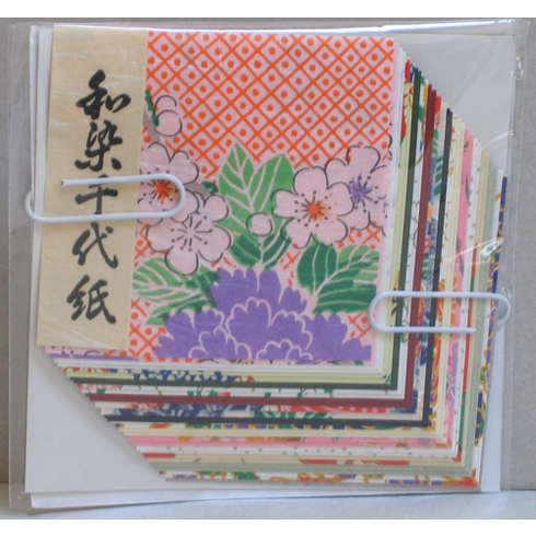 """Wazome Unryu Chiyogami Origami <br> Paper 2-1/4"""" , 4"""" & 6"""" Sq, 30 Sheets"""
