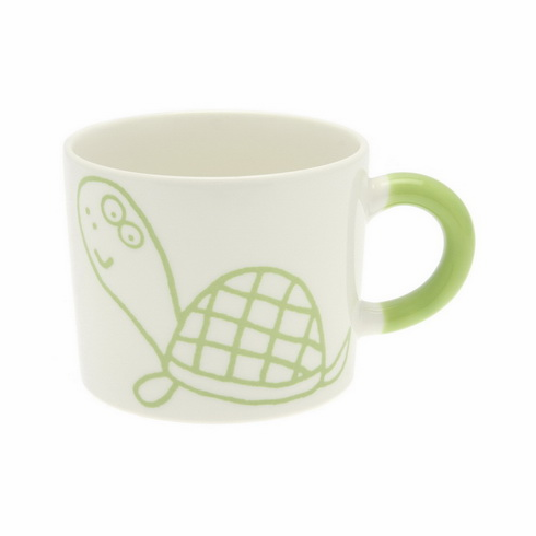 Yellow Green Turtle Mug, 12 oz.