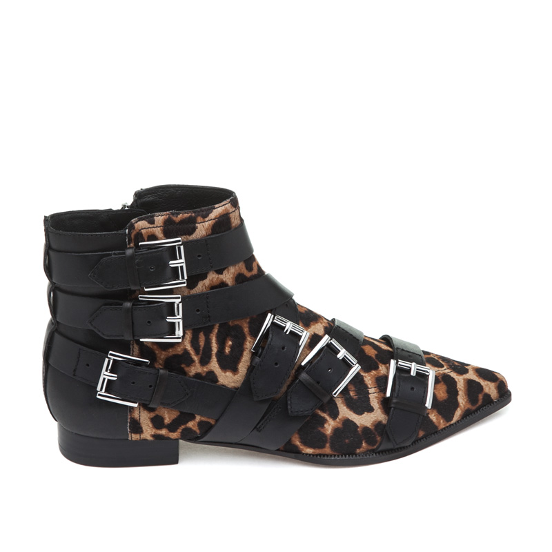 ASH Blast Wilde/Black Pony Hair Boot