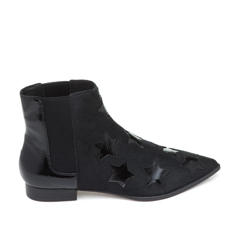 ASH Bliss Black Pony Hair Boot
