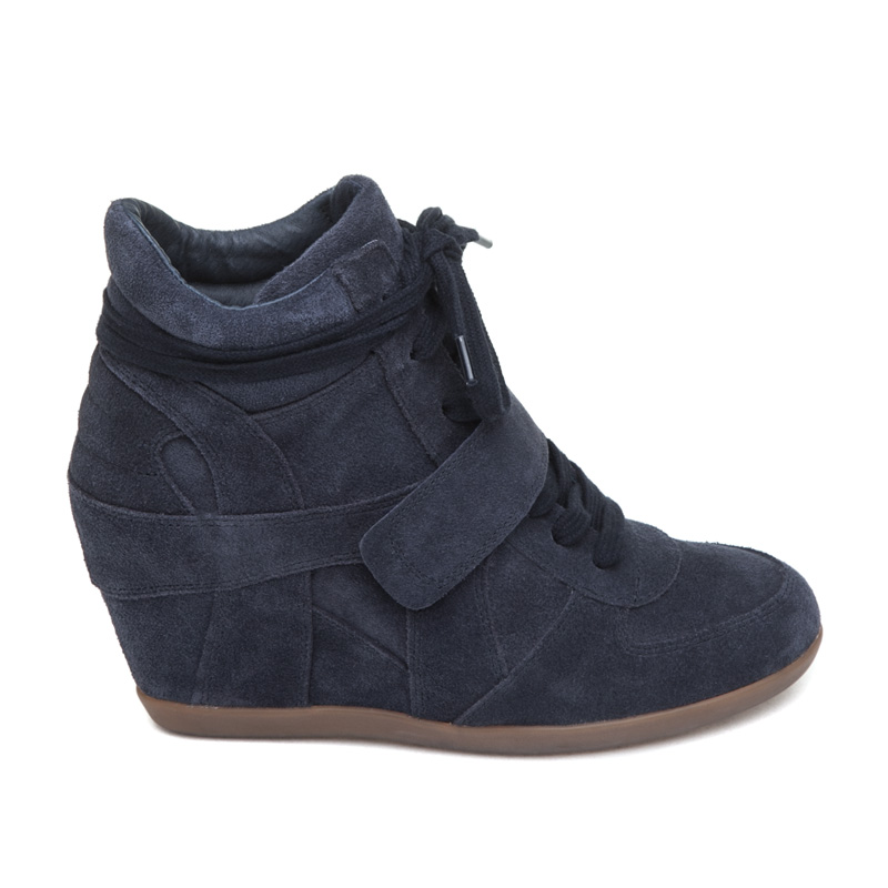 ASH Bowie BIS Midnight Suede Wedge Sneaker