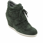 best seller ASH Bowie BIS Military Suede Wedge Sneaker