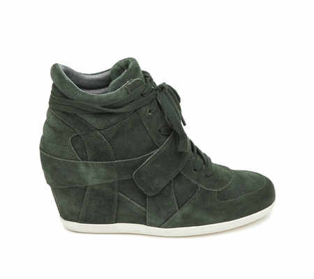 ASH Bowie BIS Military Suede Wedge Sneaker