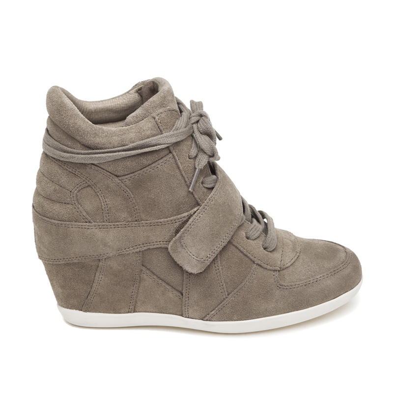 ASH Bowie Cocco Suede Wedge Sneaker