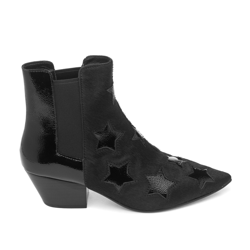 ASH Cristal Black Pony Hair Boot