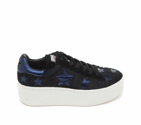 ASH Cult Star Black Midnight Pony Hair Sneaker