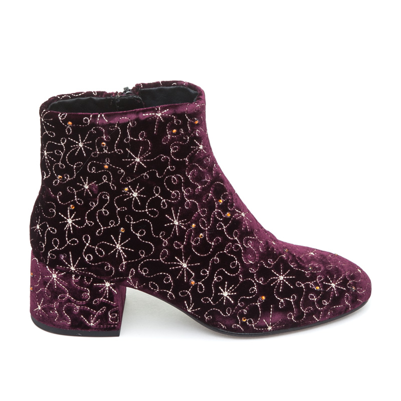 ASH Diamond BIS Bordeaux Velvet Boot