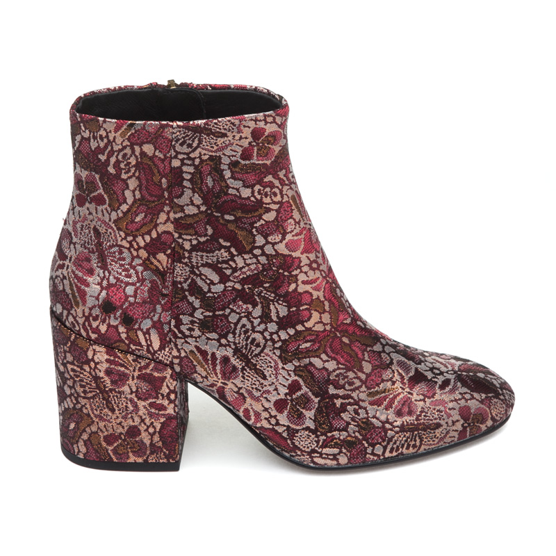 ASH Egoiste Bordeaux Fabric Boot