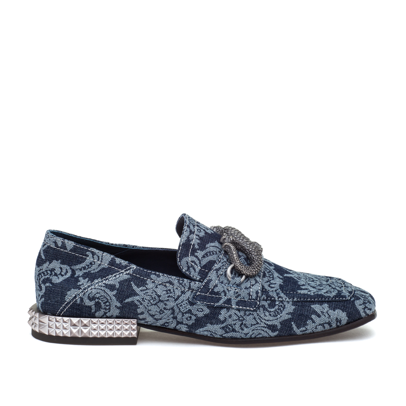 ASH Exodus Blue Fabric Loafer
