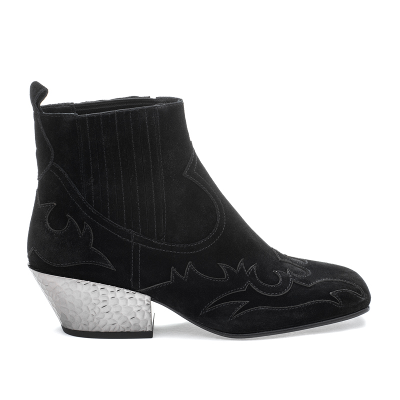 ASH Ginger BIS Black Suede Boot