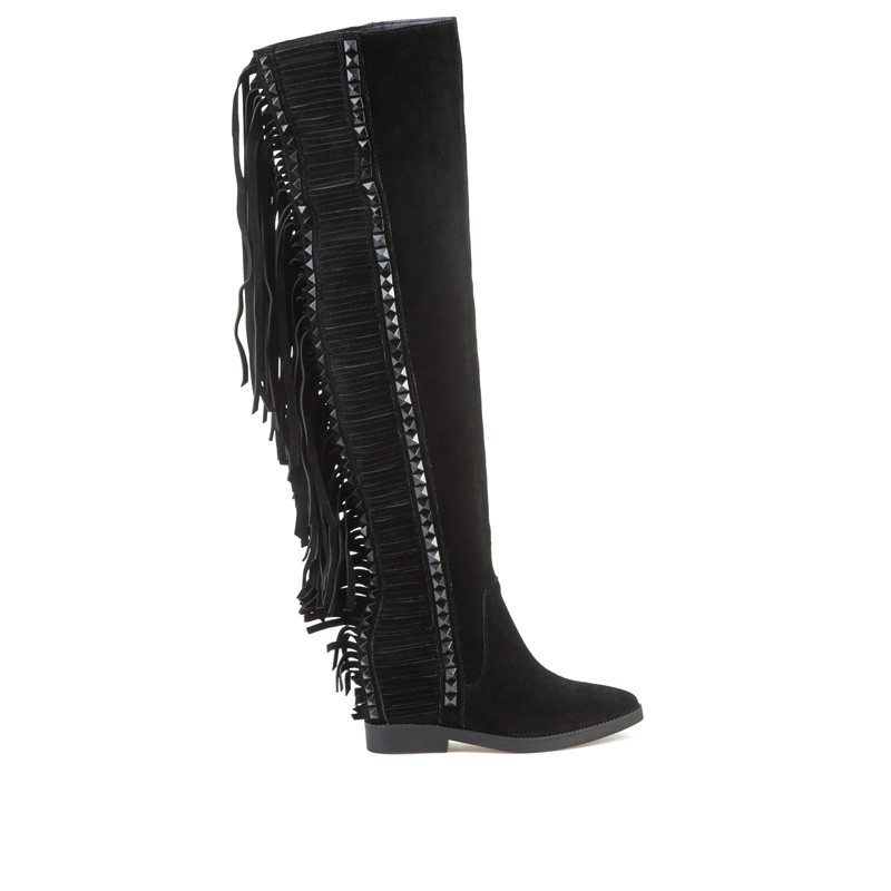 ASH Gwen Black Suede Boot