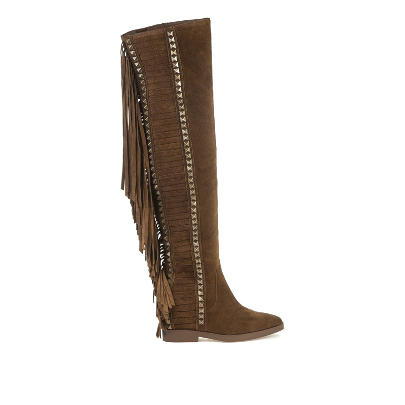 ASH Gwen Russet Suede Boot