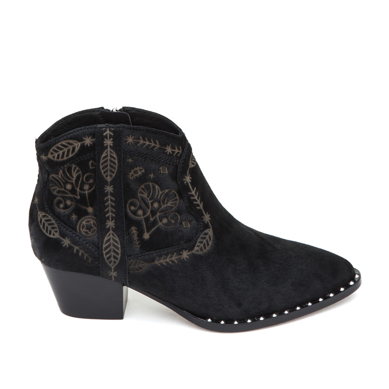 ASH Hysteria Black Pony Hair Boot