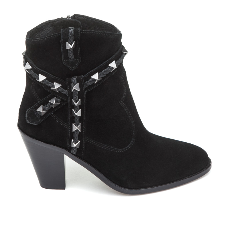 ASH Ilona Black Suede Boot